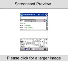 LingvoSoft Talking Dictionary English <-> Slovak for Pocket PC Screenshot